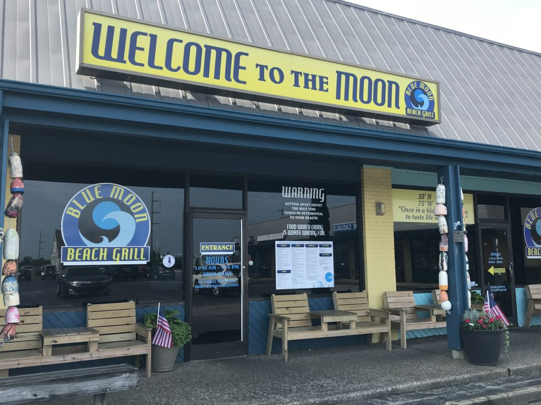 Welcome to the Moon!  Our new entrance is the 4th door from the right…