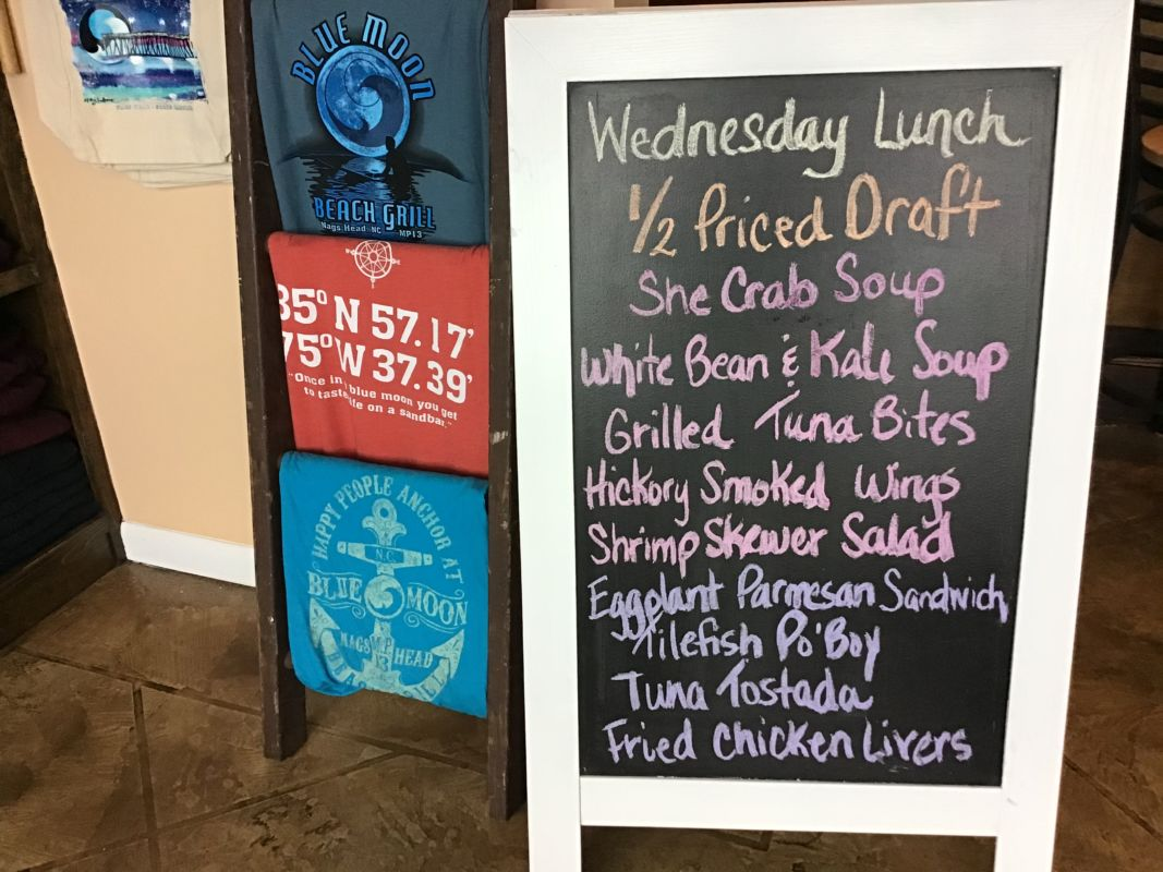 Wednesday Lunch Specials October 30th 2019 Blue Moon