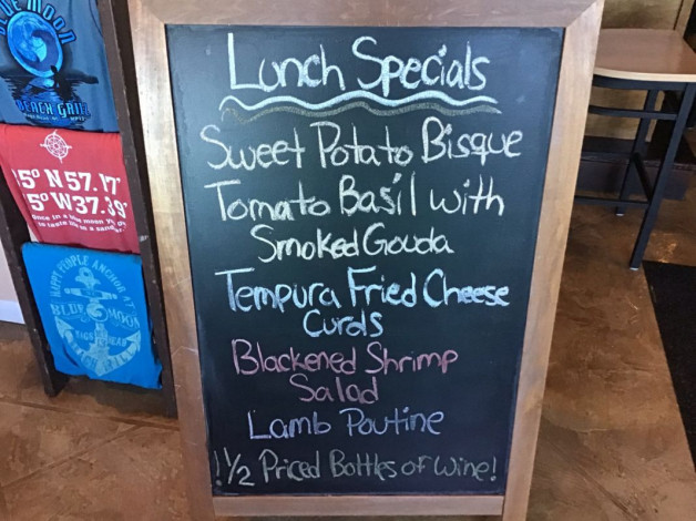 Tuesday Lunch Specials October 30th,2018