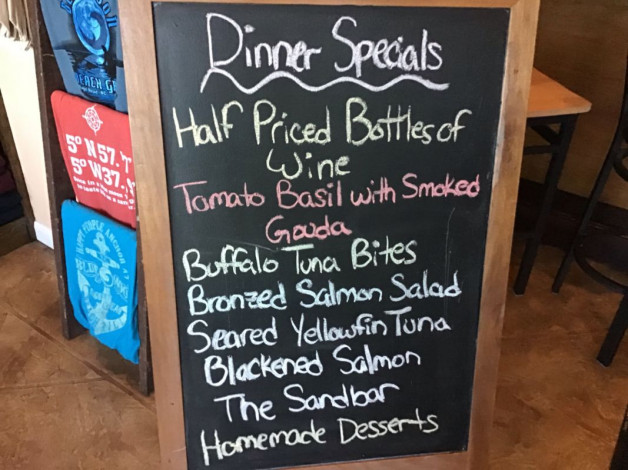 Tuesday Dinner Specials – October 30th 2018