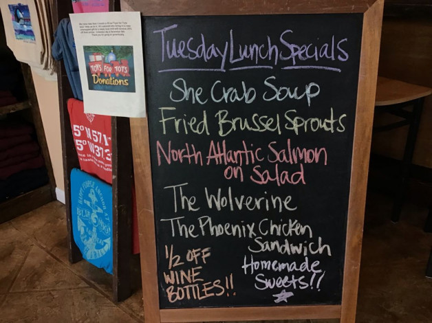 Tuesday Lunch Specials – November 13th 2018