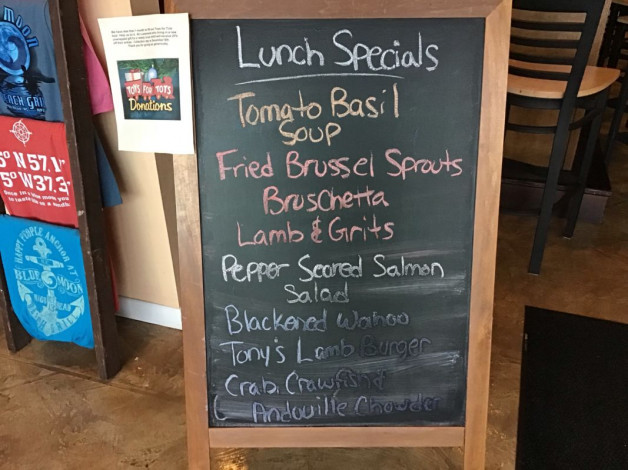 Wednesday Lunch Specials November 14th, 2018