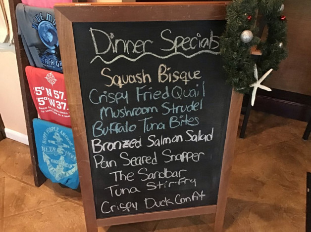 Thursday Dinner Specials November 29th, 2018
