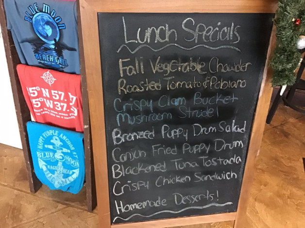 Sunday Lunch Specials December 2nd, 2018