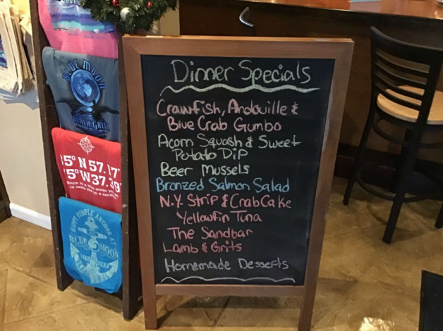 Friday Dinner Specials December 7th, 2018