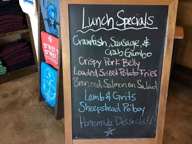 Saturday Lunch Specials – December 8th 2018