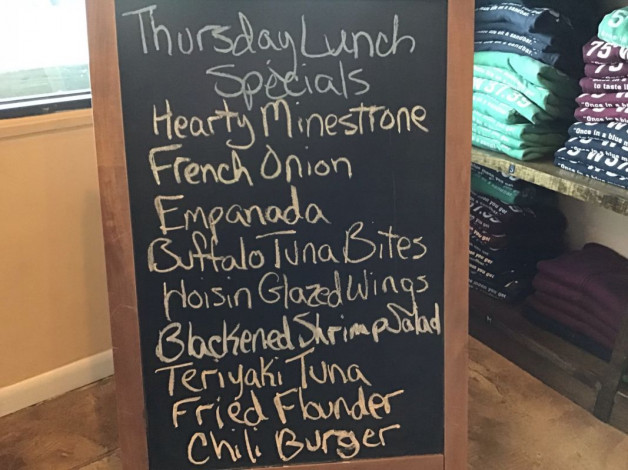 Thursday Lunch Specials December 13th, 2018