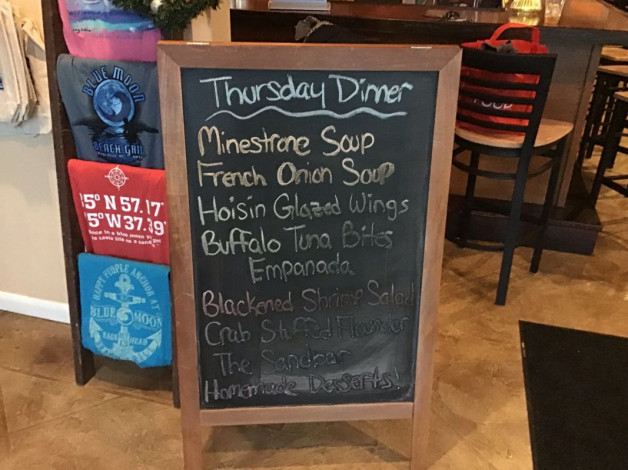 Thursday Dinner Specials December 13th, 2018