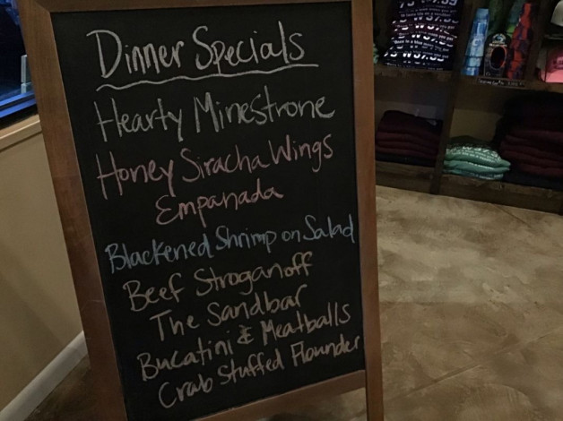 Friday Dinner Specials – December 14th 2018