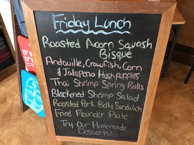 Friday Lunch Specials December 21st, 2018