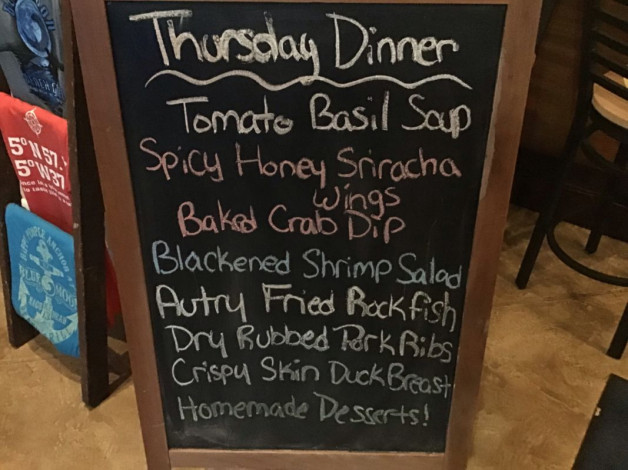 Thursday Lunch Specials- December 27th, 2018