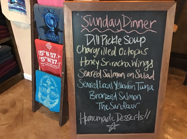 Sunday Dinner Specials – December 30th 2018