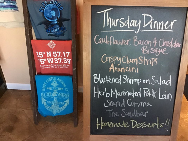 Thursday Dinner Specials- January 17th, 2019