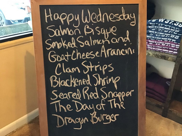 Wednesday Lunch Specials January 23rd, 2019