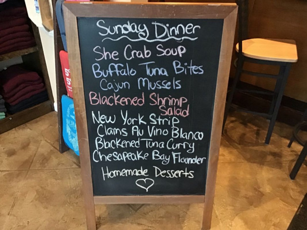 Sunday Dinner Specials- February 17th, 2019