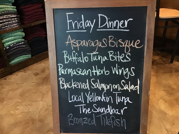 Friday Dinner Specials – February 22nd 2019