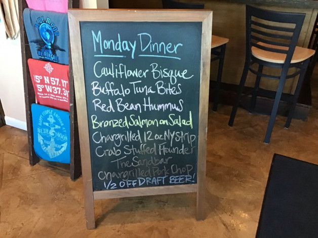Monday Dinner Specials- February 25th, 2019