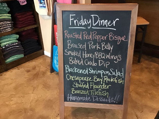 Friday Dinner Specials – March 1st 2019
