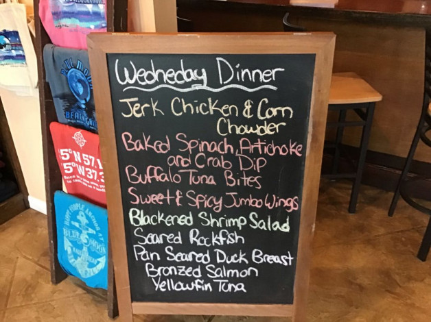 Wednesday Dinner Specials- March 20th, 2019