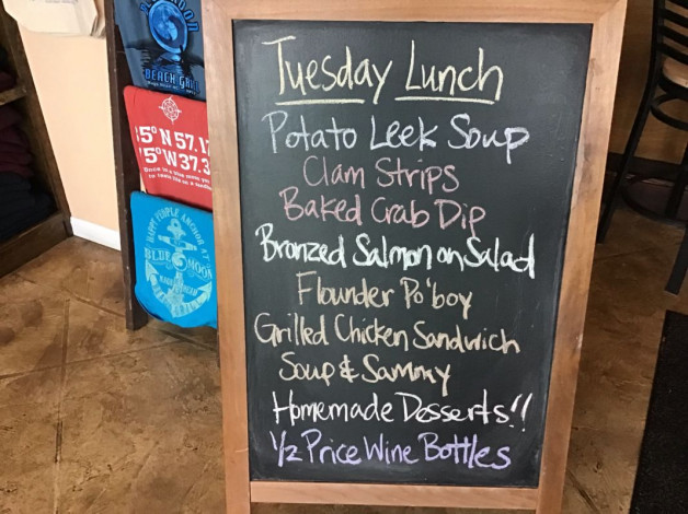 Tuesday Lunch Specials – March 26th 2019