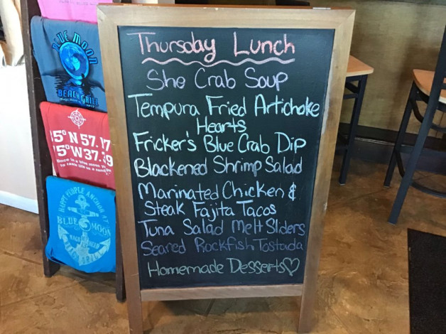 Thursday Lunch Specials- March 28th, 2019