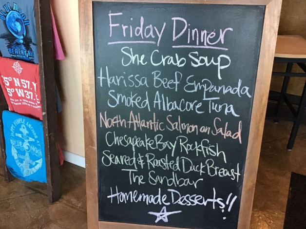 Friday Dinner Specials – March 29th 2019