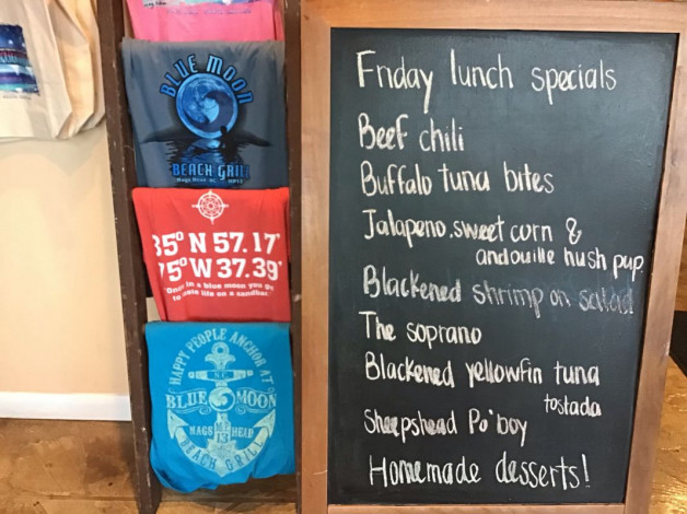 Friday Lunch Specials- April 5th, 2019