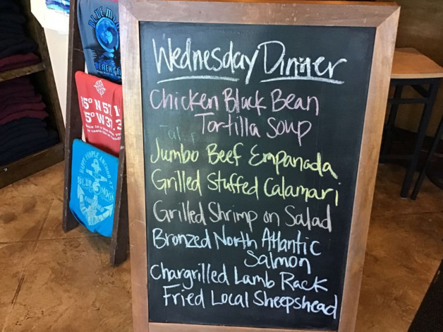 Wednesday Dinner Specials – April 10th 2019