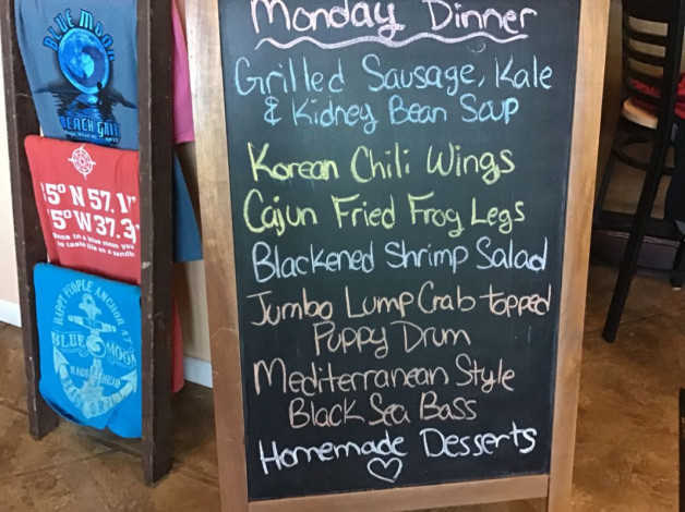 Monday Dinner Specials April 15th, 2019