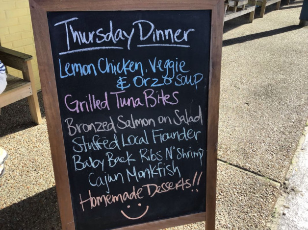 Thursday Dinner Specials – April 18th 2019