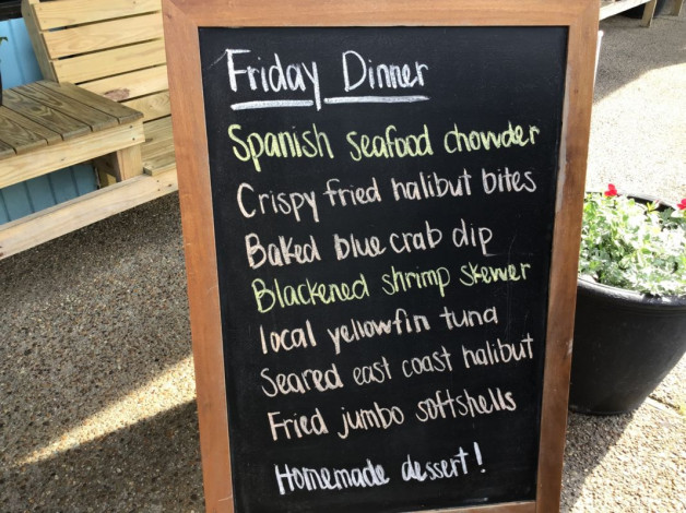 Friday Dinner Specials- May 17th, 2019
