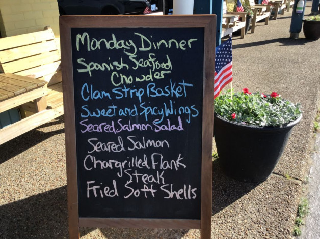 Monday Dinner Specials- May 20th, 2019