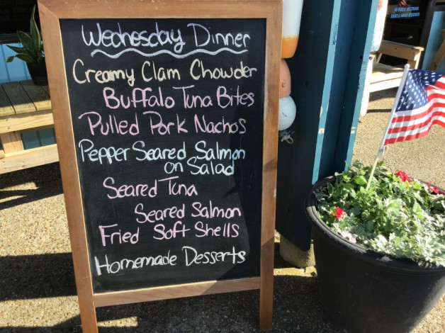 Wednesday Dinner Specials- May 22nd, 2019