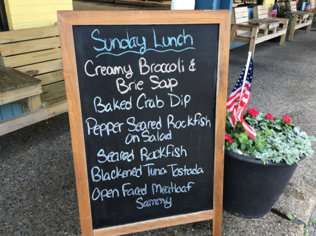 Sunday Lunch Specials- May 26th, 2019