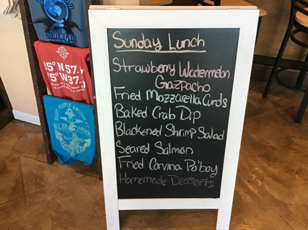 Sunday Lunch Specials- June 30th, 2019