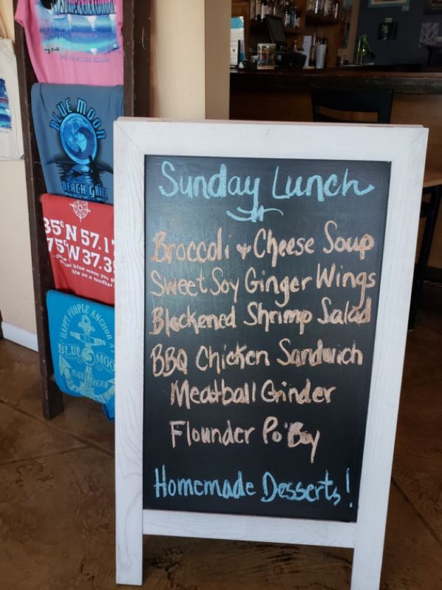 Sunday, September 1st Lunch Specials