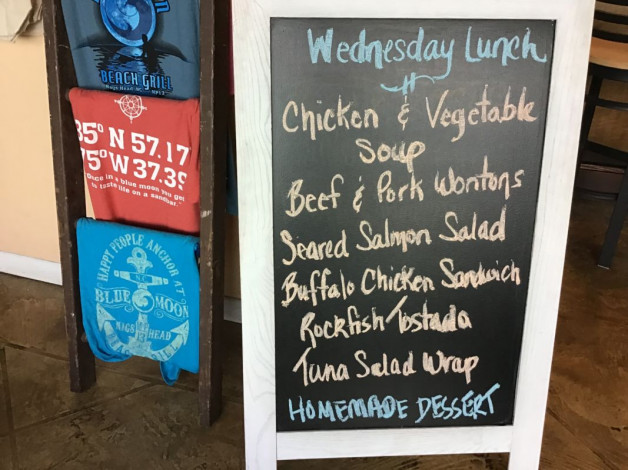 Wednesday Lunch Specials September 18th, 2019