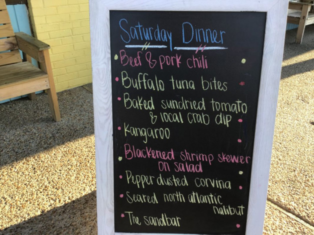 Saturday Dinner Specials- September 28th, 2019