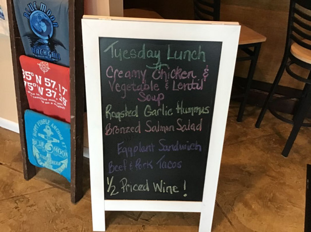 Tuesday Lunch Specials- November 5th, 2019