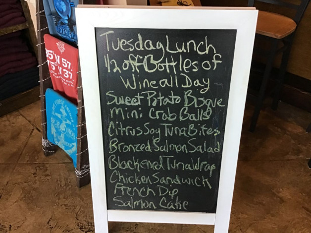 Tuesday Lunch Specials- December 10th, 2019