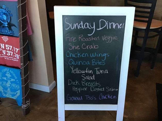 Sunday Dinner Specials- December 15th, 2019