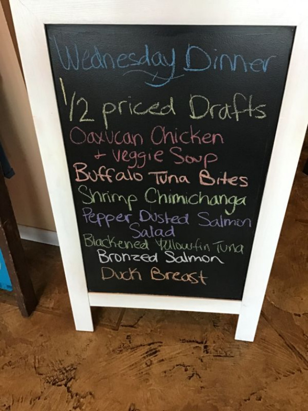 Wednesday Dinner Specials January 15th, 2020