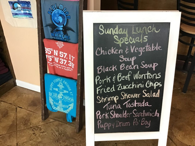 Sunday Lunch Specials January 19th, 2020