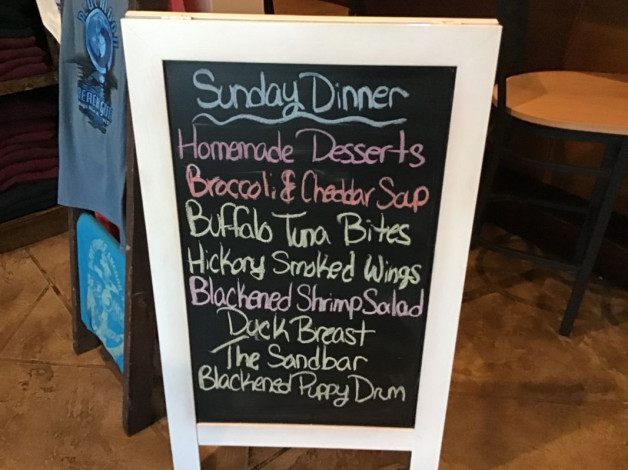 Sunday Dinner Specials- January 19th, 2020