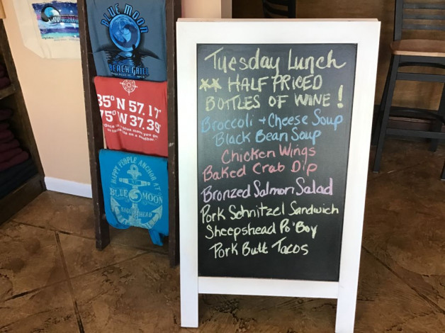 Tuesday Lunch Specials January 21, 2020