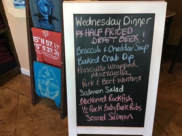 Wednesday Dinner Specials January 22nd, 2020