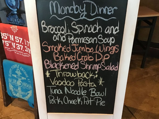 Monday Dinner Specials January 27th, 2020