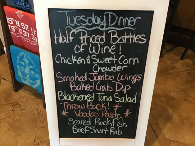 Tuesday Dinner Specials- January 28th, 2020