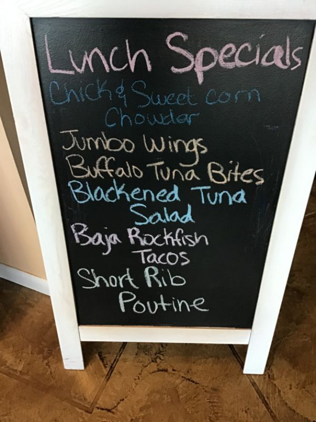 Thursday Lunch Specials January 30th, 2020