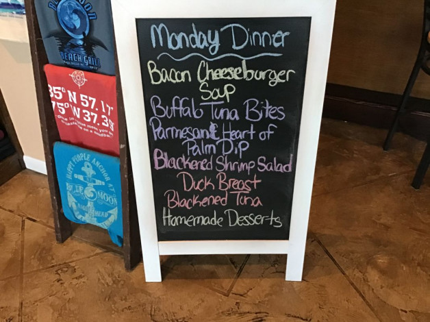 Monday Dinner Specials- February 3rd, 2020